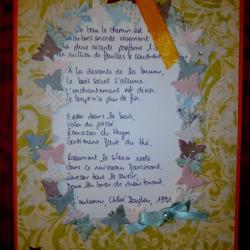 Carte 2, Poême sur l'automne de Chloé Douglas