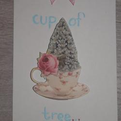 "Carte ""Cup of tree"""