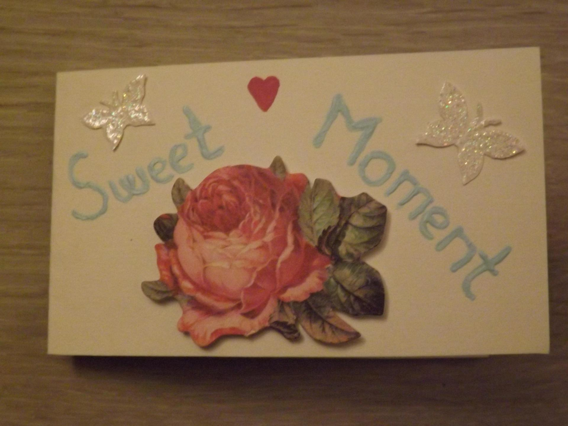 "Carte ""Sweet Moment"""