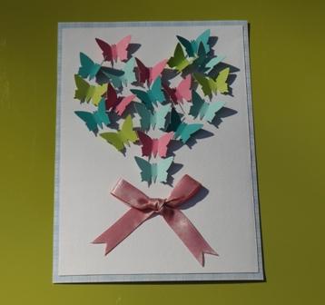 Carte coeur papillons